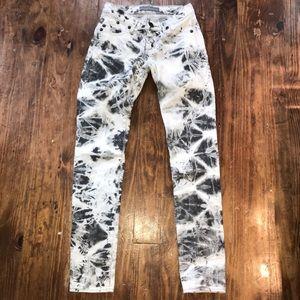 🌵Rock & Republic Grey Marble Tie Dye Jeans SZ 0